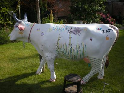 Cow in the garden 03 (Foto: Wim Molman)